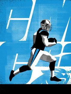 CMC22 #Illustration by Matt Stevens #Sports #NFL #Carolina #Panthers #American #Football