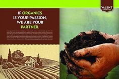 Valent Organics Spread Print Ad | Flickr - Photo Sharing! #design #advertising #art #layout #organic #agriculture