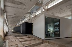 o office turns an abandoned factory into iD town: the creative art district #china