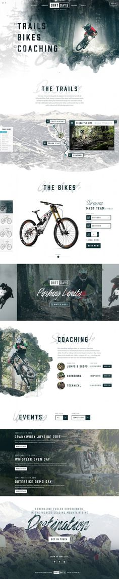 Dirtdays Website Concept #web #design #ui #ux