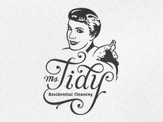 Dribbble - Ms. Tidy Logo by Emir Ayouni | Growcase #logo #script #typography