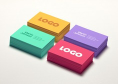 Business card mockups in four colors Free Psd. See more inspiration related to Logo, Business card, Mockup, Business, Card, Colorful, Colors, Cards, Psd, Business logo, Mockups, Horizontal and Four on Freepik.