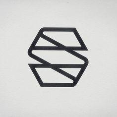 Retro monogram #monogram