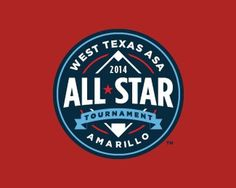 West Texas ASA AllStar Tournament #mark #branding #texas #baseball #amarillo