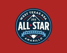 West Texas ASA AllStar Tournament #branding #mark #baseball #texas #amarillo
