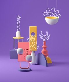As part of a personal project, Cristian Malagón Garcia andNuria Madrid aimed to find a way to integrate hand-drawn illustration with 3D graphics. Find more of the most beautiful designs on mindsparklemag.com