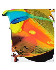 SP59. acrylic on linen. 27x22cm. 2014. YAGO HORTAL #yago #hortal #paint #painter #colours #blue #yellow #orange #canvas