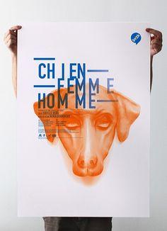 Chien Femme Homme #design #graphic