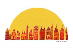 Color Cities - COLT BOWDEN #illustration #yellow #red