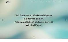 http://www.pleksi.de pixelperfekt, webdesign website web inspiration designblog design html css java php mindsparkle mindsparklemag www.mind
