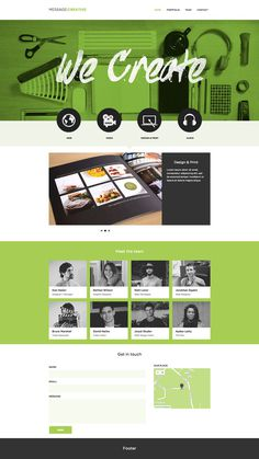 Message creative #design #minimalist #website #green #startup