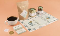 No. Six Depot #branding #packaging #mint #identity #gold #coffee