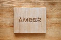 amber book case