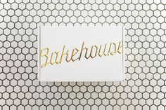 Top of the Box for baked goods at Mr Holmes Bakehouse #design #bakehouse #food #branding #foil