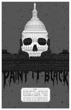 Posters : Greg Christman | Portfolio #illustration #poster #screenprint #gigposter #paint it black