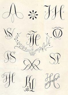 Monograms 1950's #monograms