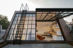 West Village Townhouse #rooftop #office #architecture