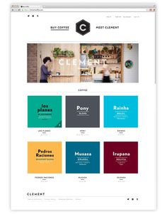 CLEMENT COFFEE #commerce #grid #minimal #webdesign #coffee
