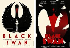 Fonts In Use – Black Swan Movie Posters #swan #black #illustration #mostra #poster #typography