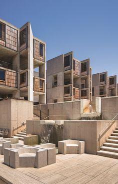 San Diego, CA: Salk Institute, Louis Kahn & Luis Barragán, 1963