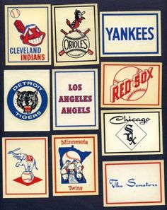 a time to get: WASTE SOME TIME: The Fleer Sticker Project #baseball #logos #vintage