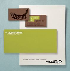 Crunchy Grocer stationery by The Tenfold Collective #logo #identity #branding #stationery