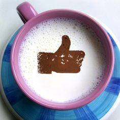 Social Cappuccino Stencil Set #coffee #cappuccino #cup