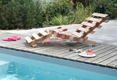 Les Palettes on Behance #garden #pool #pallet