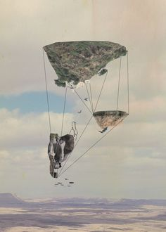 Islands by Tom Reznikov #islands #print #floating #nature #art #poster #collage #mountains