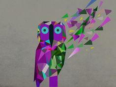 (ILLUSTRATOR PROJECTÂ ) #pi #owl #particals #grea #purple #rodrigues #piedade #production