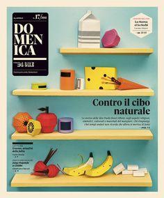 Domenica – Il Sole 24 Ore | Happycentro #cover #handmade #papercraft #fruits #happycentro