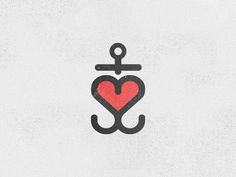 Anchor of love #heart #logo #anchor #lure