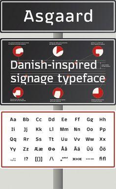Asgaard, una tipografía que homenajea a los arquitectos gráficos daneses | Yorokobu #font #graphic #danish #asgaard #typo #typography