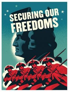 Flyer Design Goodness - A flyer and poster design blog #war #military #illustration #usa #revolutionary