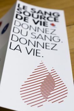 Donnez du Sang on Behance #simple #information #design #editorial