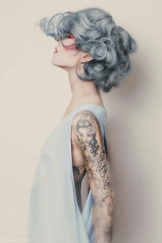 Pastel Hair #hair #tattoo #ink #fashion