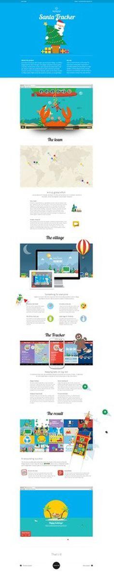 Santatracker_4ht #flat #case #study #layout #web
