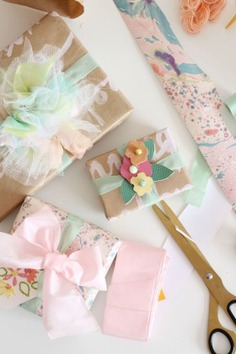 - pastel wrapping ideas