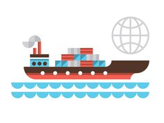 UPS #icon #global #iconic #illustration #ship #maritime #delievery
