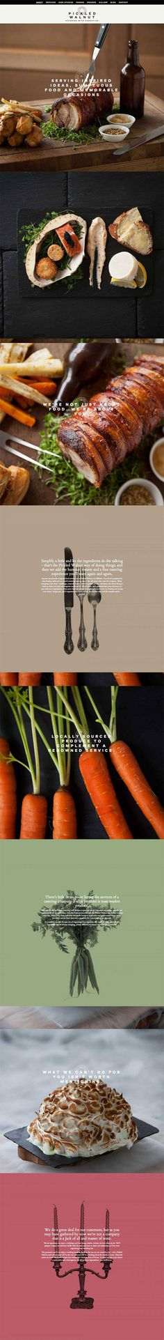 pickledwalnutcatering #aboutpages #layout #web