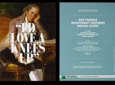 Invitation Design for BNP Paribas - Ascend Studio #invite #invitation #art #typography