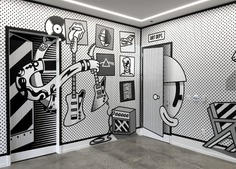 Outstanding murals by Dave Arcade - NICKELODEON WEST COAST + GAME ROOM