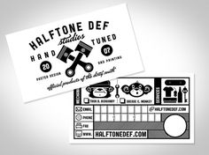 HALFTONE DEF STUDIOS – 100% Hand Tuned Design & Prints, The Dirty South – Jacksonville, Florida. » Identity #business #branding #design #graphic #identity #cards