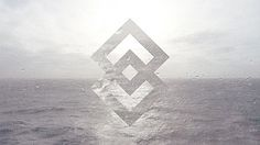 Random shapes in landscapes on the Behance Network #white #water #design #graphic #black #and #squares #waves
