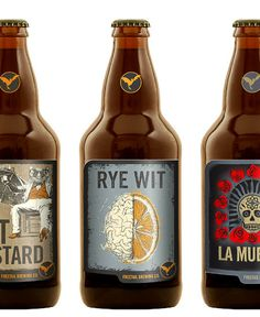 Freetail Brewing Bottles #packaging #beer #label #bottle