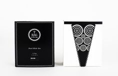 T Bag in the cup http://www.behance.net/gallery/T-Bag-in-the-cup/7224397 #white #packaging #black #tea #bag