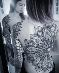 Mandala full back tattoo