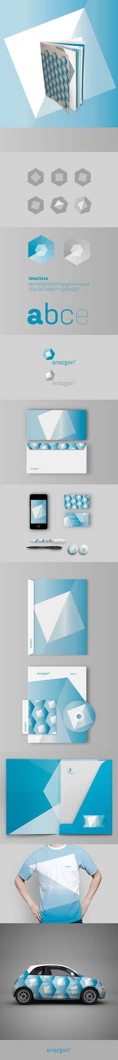Energon – Brand Identity by Mimmo Manes, via Behance #canefantasma #energy #shapes #manes #mimmo #brand #stationery #logo