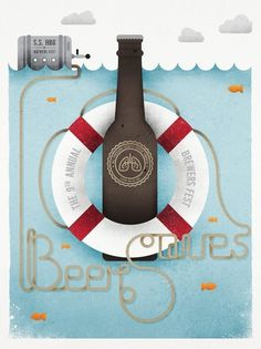 Brewers Fest - OH! Revoir #beer #illustration #typography