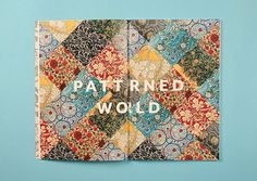 Love the use of pattern! #print #publication
